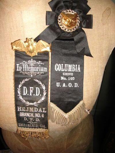 Embellished Antique Mourning Ribbons